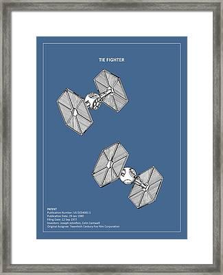 Star Wars - Tie Fighter Patent Framed Print