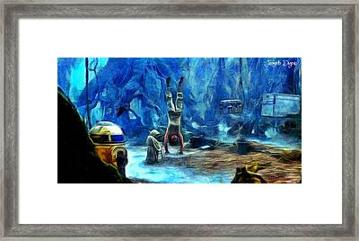 Star Wars Training Body And Mind Framed Print by Leonardo Digenio