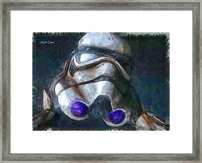 Star Wars Troop - Pa Framed Print by Leonardo Digenio