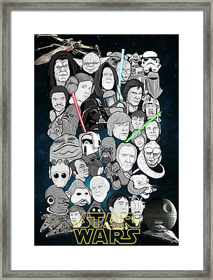 Star Wars Universe Collage Framed Print by Gary Niles