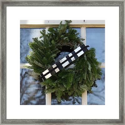 Star Wars Williamsburg Wreath 03 Framed Print by Teresa Mucha