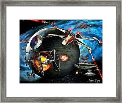 Star Wars Worlds At War Framed Print