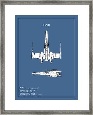 Star Wars X-wing Fighter Framed Print