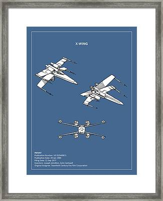 Star Wars - X-wing Patent Framed Print by Mark Rogan