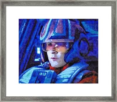 Star Wars Yolo Ziff Rebel Pilot - Da Framed Print by Leonardo Digenio