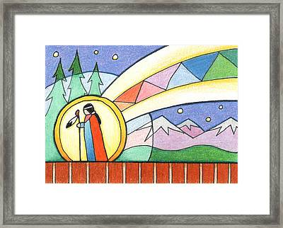 Star Woman Comes To Earth Framed Print by Amy S Turner