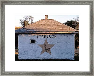 Starbuck Washington Framed Print