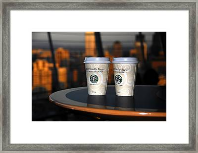 Starbucks At The Top Framed Print by David Lee Thompson