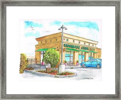 Starbucks Coffee In Barstow - Ca Framed Print