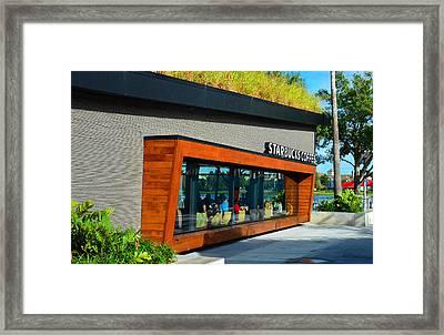 Starbucks Disney Springs Florida Framed Print