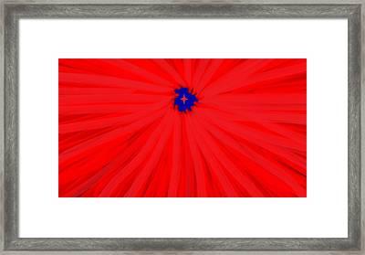 Starburst 2' By Sumi E Master Linda Velasquez Framed Print