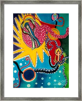 Framed Print featuring the drawing Starburst by Christine Perry