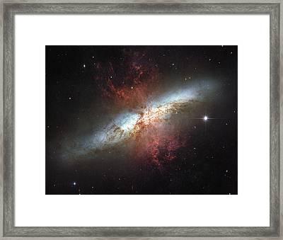 Starburst Galaxy, Messier 82 Framed Print