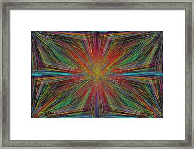 Starburst Framed Print by Tim Allen