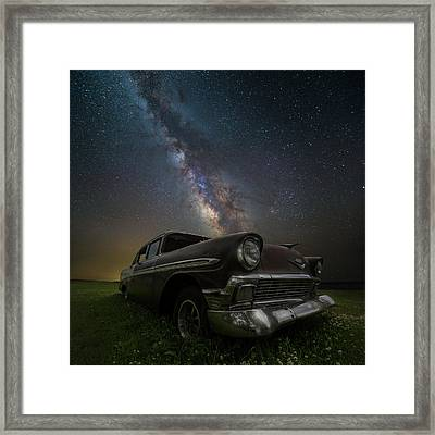 Stardust And Rust Chevy Framed Print by Aaron J Groen