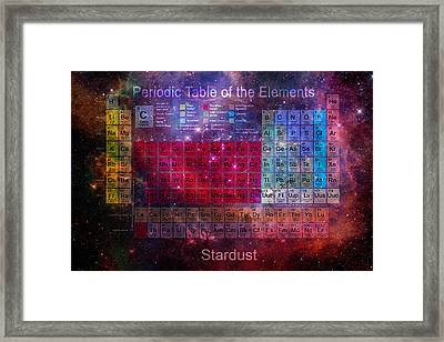 Stardust Periodic Table Framed Print by Carol and Mike Werner