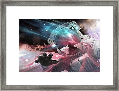 Framed Print featuring the digital art Stardust by Steve Goad