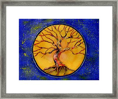 Stardust Tree Framed Print by Brenda Owen