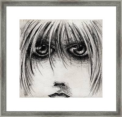 Stare At Me Framed Print by Rachel Christine Nowicki