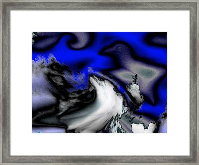 Stare At The Sky In Disbelief Framed Print