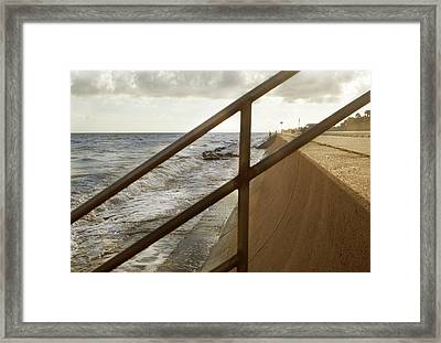 Stare Through The Lines Framed Print