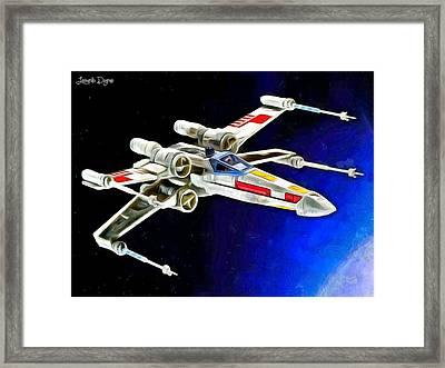 Starfighter X-wings Framed Print by Leonardo Digenio
