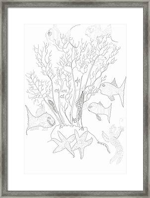 Starfish Dance And Fish Camouflage Framed Print