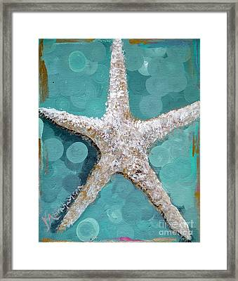 Starfish Goldie Framed Print