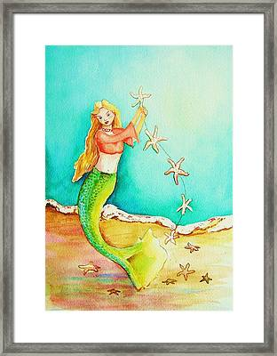 Starfish Mermaid Framed Print