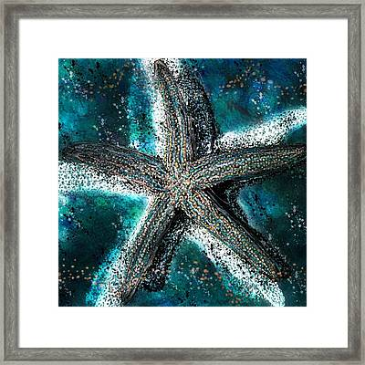 Starfish Ocean Deep Framed Print