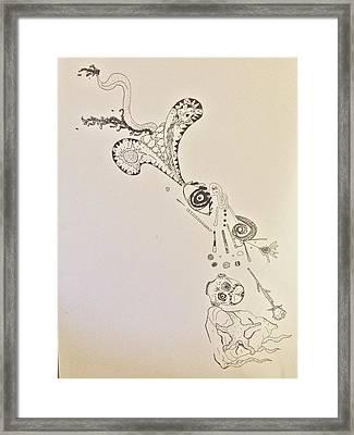 Starfishcalavera Dragon Framed Print by Samuel Burgos-Garcia