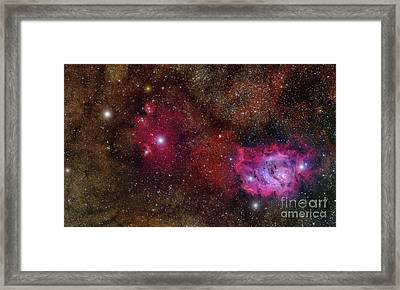 Starforming Region Ngc 6559 Framed Print by Roberto Colombari