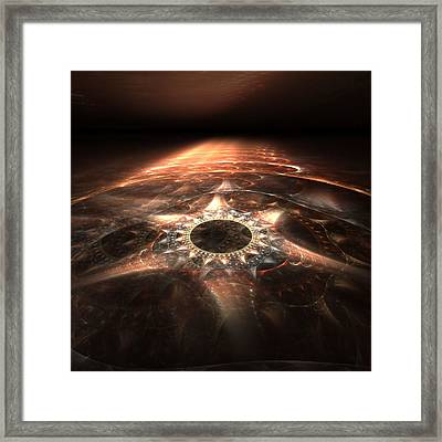 Framed Print featuring the digital art Stargate by Richard Ortolano