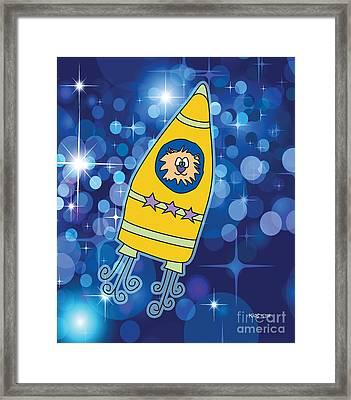 Stargazer Created By Kidslolll Framed Print by Kids Lolll