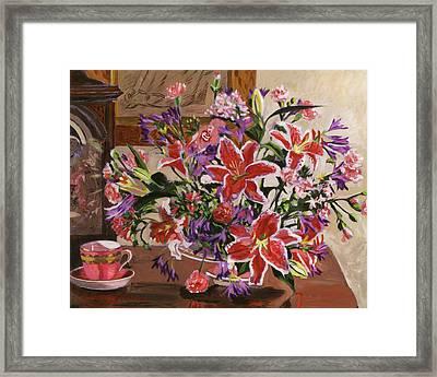 Stargazer Lilies Framed Print by David Lloyd Glover