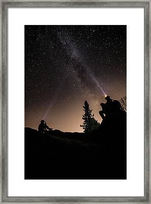 Stargazing At The Cascades With Dave Framed Print by Jakub Sisak