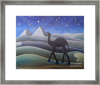 Stargazer On The Dunes Framed Print by Caroline Street