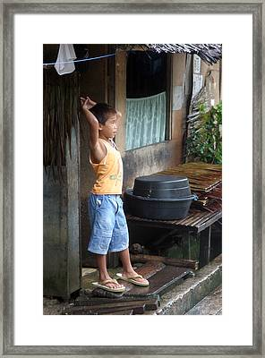 Staring At My World Framed Print by Jez C Self