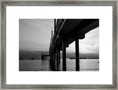 Staring At The Sun - Black And White Framed Print