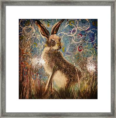 Staring Hare  Framed Print by Carole Hall