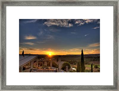 Starise At Arcosanti Framed Print by William Wetmore