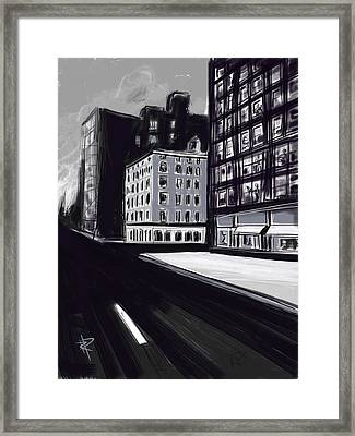 Stark City Framed Print