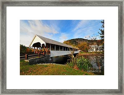 Stark Covered Bridge  Framed Print by Catherine Reusch Daley