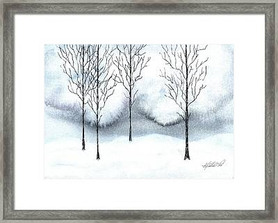 Stark Watercolor And Ink Framed Print