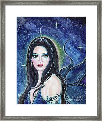 Starla Cosmic Fairy Framed Print by Renee Lavoie