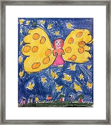 Starlight Angel Framed Print by Susan Olin-Dabrowski