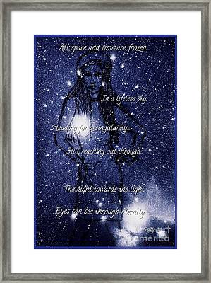 Starlight In Space And Time 5 Framed Print by Joan-Violet Stretch