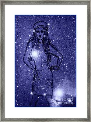 Starlight Of Space And Time 2 Framed Print by Joan-Violet Stretch
