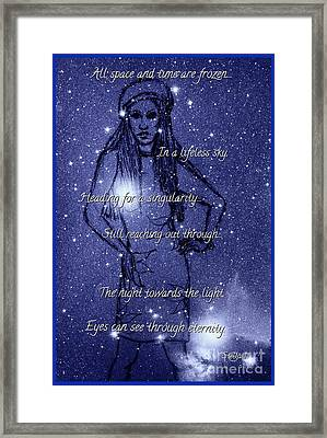 Starlight Of Space And Time 4 Framed Print by Joan-Violet Stretch