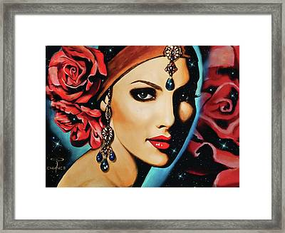Starlight Rose Framed Print
